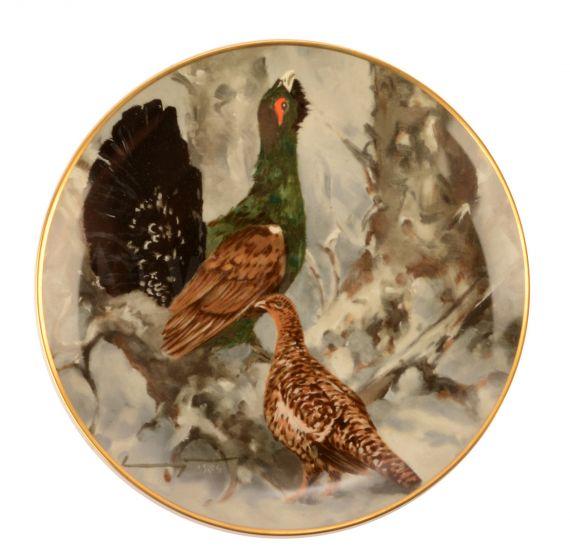 HANNES LIEDERLEY  Kaiser -  Porzellan - Teller Birkwild
