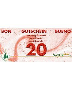 NaturAktiv Einkaufsgutschein sFr. 20.-