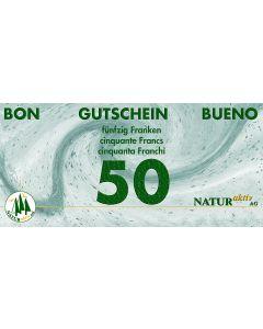 NaturAktiv Einkaufsgutschein sFr. 50.-