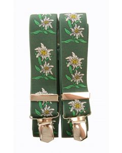 Hosenträger Edelweiss Grün
