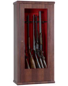 INFAC Tresor Nussholzdekor/Beleuchtung für 10 Waffen, Schlüssel