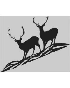 Rafco Autokleber Hirsch 2 Tiere schwarz-durchsichtig