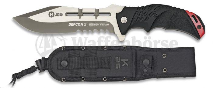 K25  Knife Black Red Defcon 2